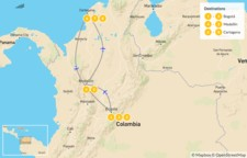 Map thumbnail of Best of Colombia: Bogotá, Medellín & Cartagena - 9 Days