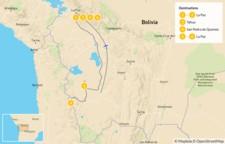 Map thumbnail of Explore Bolivia: La Paz & Great Uyuni Salt Flats - 7 Days