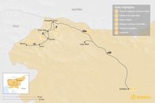 Map thumbnail of Slovenia Multisport Adventure - 6 Days