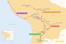 Map thumbnail of 10 Days in Bolivia - 4 Unique Itineraries