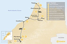 Map thumbnail of Morocco North to South: Cities & Atlas Hiking - 9 Days