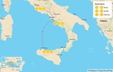 Map thumbnail of Rome, Amalfi Coast, & Sicily - 10 Days