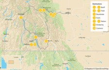 Map thumbnail of Kootenay Rockies: Hot Springs Circle Route - 11 Days