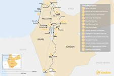 Map thumbnail of Jordan and Holy Land Tour - 14 Days