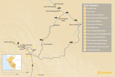 Map thumbnail of Sacred Valley & Manu National Park - 14 Days