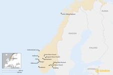 Map thumbnail of Guide to Norway's Best Cultural and Historical Experiences