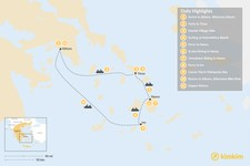 Map thumbnail of Active Cyclades: Tinos, Naxos & Ios - 11 Days
