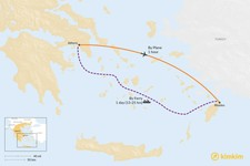 Map thumbnail of How to Get from Athens to Rhodes