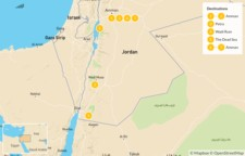 Map thumbnail of Best of Jordan: Amman, Petra, Wadi Rum, & the Dead Sea - 8 Days