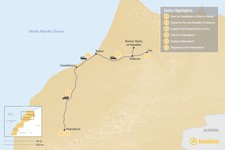 Map thumbnail of Moroccan Cities: Casablanca, Rabat, Fes & Marrakech - 6 Days