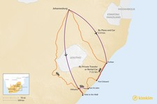 Map thumbnail of How to Get from Johannesburg to the Wild Coast