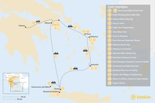 Map thumbnail of Laid-Back Athens, Tinos, Mykonos, Santorini, and Crete - 19 Days