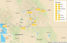 Map thumbnail of Calgary to Vancouver Road Trip: Banff, Revelstoke, Nelson, & Osoyoos - 15 Days