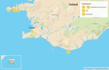 Map thumbnail of Volcanic Snaefellsnes Peninsula & South Coast Highlights - 5 Days