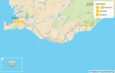 Map thumbnail of Iceland's South Coast Guided Tour - 5 Days