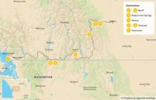Map thumbnail of Calgary to Vancouver Road Trip: Banff, Radium, Nelson, & Osoyoos - 8 Days
