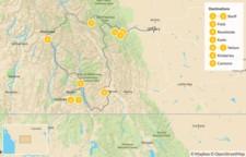 Map thumbnail of Kootenay Rockies: Hot Springs Circle Route - 10 Days