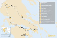 Map thumbnail of Mainland Greece Adventure Trip - 13 Days