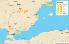 Map thumbnail of Family Trip to Spain: Barcelona, Valencia, Madrid, & Andalusia - 14 Days