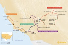Map thumbnail of One Week in the US Southwest: Desert Road Trips, National Parks, and California Coastline