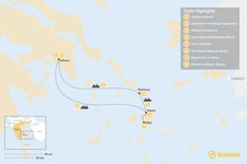 Map thumbnail of Family Adventures in Athens and the Cyclades - 8 Days