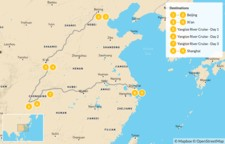 Map thumbnail of China's Highlights & Yangtze River Cruise - 10 Days