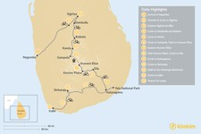 Map thumbnail of Cycling Tour of Sri Lanka - 13 Days