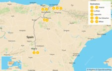 Map thumbnail of Northern Spain Road Trip: Madrid to the Basque Country - 10 Days