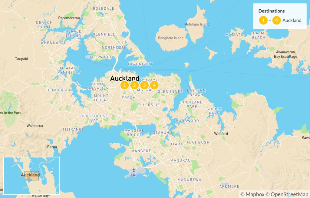 Map of Ultimate Auckland Tour - 5 Days