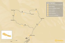 Map thumbnail of Tamang Heritage Trail - 7 Days