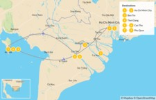 Map thumbnail of Active Vietnam: Ho Chi Minh City, Can Tho, & Phu Quoc - 11 Days