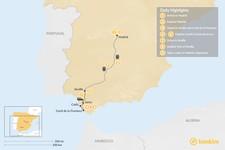 Map thumbnail of Madrid, Costa de la Luz & Sevilla - 9 Days