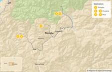 Map thumbnail of Bhutan Highlights: Thimphu, Punakha, & Paro - 6 Days