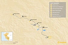 Map thumbnail of Sacred Valley & Machu Picchu Tour - 7 Days
