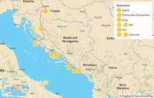Map thumbnail of Croatia Multisport: Zagreb, Plitvice, Split & Dubrovnik - 9 Days