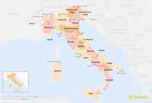 Map thumbnail of Guide to Italy's Regions: Where to Go for Beaches, Wine, History, and More