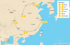Map thumbnail of Discover the Best of China: Beijing to Shanghai - 14 Days