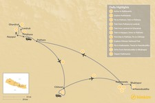 Map thumbnail of Ghandruk & Chitwan - 11 Days