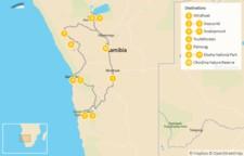 Map thumbnail of Namibia Self-Drive Explorer:  Sossusvlei, Etosha, Swakopmund, & More - 11 Days