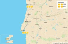 Map thumbnail of Discover Lisbon and Porto - 7 Days