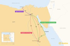 Map thumbnail of 5 Days in Egypt - 4 Unique Itineraries