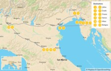 Map thumbnail of Explore Northern Italy: Trieste, Venice, Milan, Bologna, & More - 15 Days