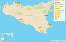 Map thumbnail of Sicily Highlights Self-Drive Tour - 15 Days