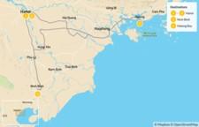 Map thumbnail of Northern Vietnam Culture & Adventure Tour - 5 Days