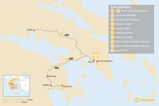 Map thumbnail of Family Holiday in Athens and Nafplio - 11 Days