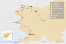 Map thumbnail of Hiking & Biking in Slovenia - 8 Days