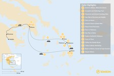 Map thumbnail of Past and Present in Athens, Tinos, Mykonos & Naxos - 15 Days