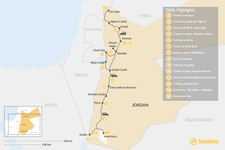 Map thumbnail of Highlights of Jordan: Petra, Wadi Rum, Dead Sea, & More - 14 Days