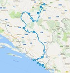 Map thumbnail of Crossing the Dinaric Alps by Bike - 8 Days