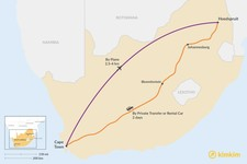 Map thumbnail of How to Get from Cape Town to Hoedspruit